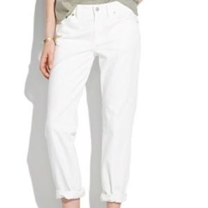 Madewell boy jeans white size 27